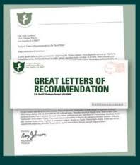 OF LETTER RECOMMENDATION
