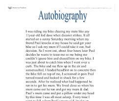 Sample autobiography essay